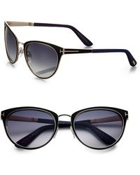Tom Ford Nina 56mm Cats-eye Sunglasses - Lyst