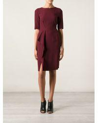 Philosophy di Alberta Ferretti Short Sleeve Fitted Dress - Lyst