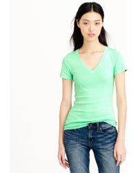J.Crew Perfect-Fit V-Neck Tee - Lyst