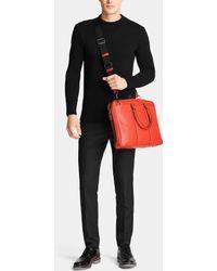 COACH - Metropolitan Slim Brief In Pebble Leather - Lyst