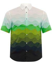Jonathan Saunders Short-Sleeved Wave-Print Shirt - Lyst