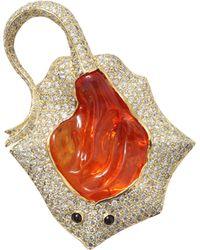 Pamela Huizenga - Mexican Fire Opal Stingray Brooch - Lyst