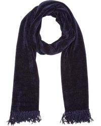 Barneys New York Chenille Scarf - Lyst