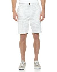 Original Penguin Relaxed Plaid Twill Shorts - Lyst