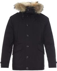 Burberry Brit - Down-filled Quilted Fur-trim Parka - Lyst