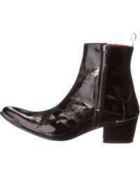 Jeffery West Black Zip Boot - Lyst