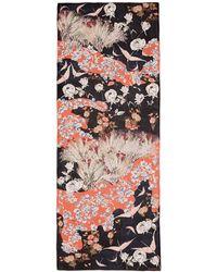 Valentino | 'garden Party' Print Silk Scarf | Lyst