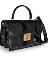 Dolce & Gabbana Rosalia Patentleather Suede and Ayers Shoulder Bag - Lyst