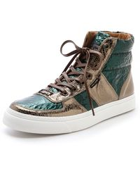 Marc Jacobs Wrinkled Leather High Top Sneakers - Lyst
