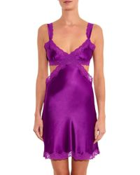 Stella McCartney Clara Whispering Lace And Satin Chemise - Lyst