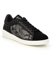 Alexander McQueen Snakeskin-Embossed Leather Sneakers - Lyst