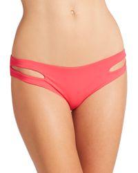 L*Space Estella Bikini Bottom pink - Lyst