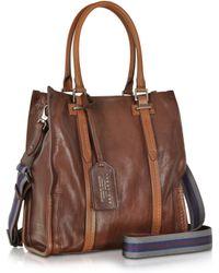 The Bridge - Ascott Marrone Small Leather Shopping Tote - Lyst