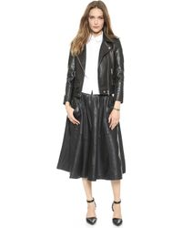 Oak Rider Leather Jacket - Black - Lyst