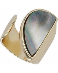 TOPSHOP - Mother Of Pearl Open Ring - Lyst