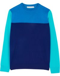 Richard Nicoll Colour Block Knitted Jumper - Lyst