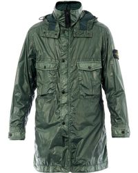 Stone Island Coated Twolength Parka - Lyst