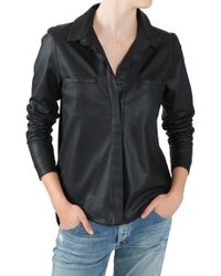 Sea Leather Button Down - Lyst