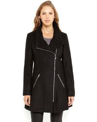 Guess Asymmetrical Boucle Coat - Lyst