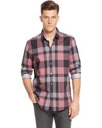 Hugo Boss Lok  Regular Fit Cotton Button Down Shirt - Lyst