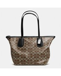 Coach Taxi Zip Top Tote in Signature Coated Canvas - Lyst