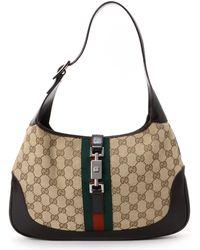 Gucci Beige Jackie Shoulder Bag - Lyst