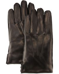 Portolano Faux-fur Lined Leather Gloves - Lyst