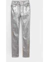 Zadig & Voltaire Eva Argent Deluxe Jeans - Lyst