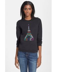 KENZO - Eiffel Tower Cotton Sweatshirt - Lyst