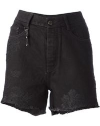 Ermanno Scervino Embroidered Denim Shorts - Lyst