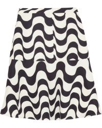 Clements Ribeiro | Juju Printed Cotton And Silk-Blend Faille Skirt | Lyst