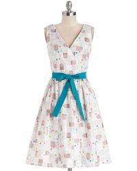 ModCloth In The Key Of Chic Dress in Tea Time - Lyst