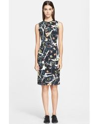 Erdem Print Jersey Sheath Dress - Lyst