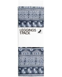 H&M Blue Patterned Leggings - Lyst