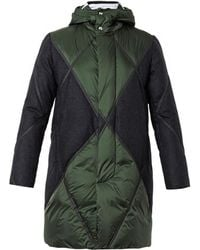 Moncler Gamme Bleu Quilted Wool-panel Down Parka - Lyst