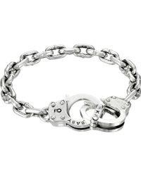 King Baby Studio Handcuff Clasp Silver Bracelet - Lyst