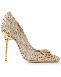 Sergio Rossi Perforated Pump - Lyst