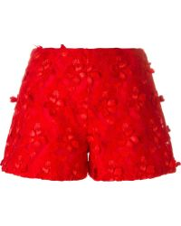 Giamba - Flower Appliqué Shorts - Lyst
