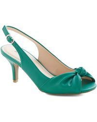 ModCloth Some Like It Knot Heel in Emerald - Lyst