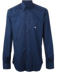Etro Button Down Collar Shirt - Lyst