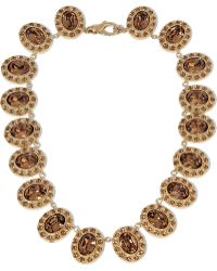 Givenchy - Necklace In Gold-tone Brass And Crystal - Lyst