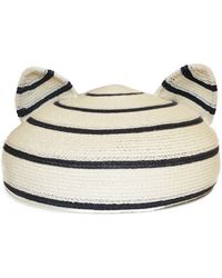 Eugenia Kim Caterina Striped Hat with Animal Ears - Lyst