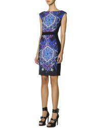Emilio Pucci Cap-sleeve Printed-front Sheath Dress - Lyst
