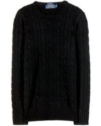 Ralph Lauren Cashmere Cable Knit Sweater - Lyst