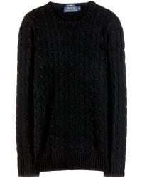 Ralph Lauren Cashmere Cable Knit Sweater - Lyst