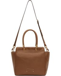 Marc By Marc Jacobs Tan Leather Bentley Shoulder Bag - Lyst
