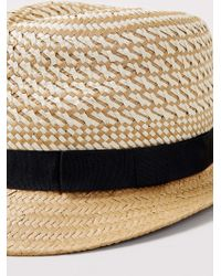 LAC - Mix Weave Trilby With Woven Trim - Lyst