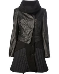Isola Marras - Leather and Wool-Blend Panelled Coat - Lyst