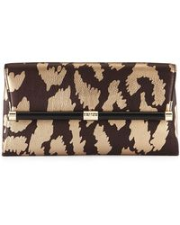 Diane von Furstenberg Metallic Printed Envelope Clutch Bag - Lyst