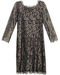 Diane von Furstenberg Zarita Dress gold - Lyst